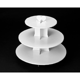 230 - White Cupcake Stand, 3 Tier Double Wall Corrugated