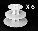 230q6 - White Cupcake Stands, 3 Tier Double Wall Corrugated