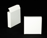 "2315 - 4 3/8"" x 4 3/8"" x 1"" White/White Without Window Reverse Tuck Box. B04"