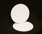 235 - 14 inch White Cake Round, Coated Corrugated Single Cake Board. H07