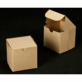 "2366 - 4"" x 4"" x 4"" Brown/Brown without Window, Lock & Tab Box With Lid"