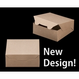 "2367 - 6"" x 6"" x 2 1/2"" Brown/Brown without Window, Lock & Tab Box With Lid"