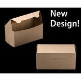 "2369 - 8"" x 4"" x 4"" Brown/Brown without Window, Lock & Tab Box With Lid"
