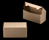 "2369 - 8"" x 4"" x 4"" Brown/Brown without Window, Lock & Tab Box With Lid. A11"