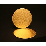 237 - 16 inch Gold Cake Round, Foil Covered Double Wall Corrugated