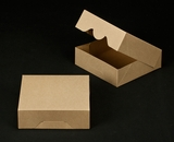 """2370 - 8"""" x 8"""" x 2 1/2"""" Brown/Brown without Window, Timesaver Box With Lid. A16"""
