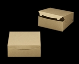 "2376 - 10"" x 10"" x 4"" Brown/Brown without Window, Lock & Tab Box With Lid. A26"