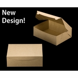 """2377 - 12"""" x 9"""" x 4"""" Brown/Brown without Window, Lock & Tab Box With Lid"""