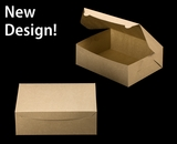 """2377 - 12"""" x 9"""" x 4"""" Brown/Brown without Window, Lock & Tab Box With Lid. A27"""
