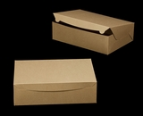 "2378 - 14"" x 10"" x 4"" Brown/Brown without Window, Lock & Tab Box With Lid. A34"