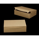"2378 - 14"" x 10"" x 4"" Brown/Brown without Window, Lock & Tab Box With Lid"