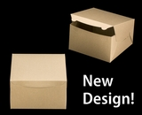 """2381 - 10"""" x 10"""" x 6"""" Brown/Brown without Window, Lock & Tab Box With Lid"""
