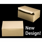 "2382 - 14"" x 10"" x 6"" Brown/Brown without Window, Lock & Tab Box With Lid 50 COUNT"