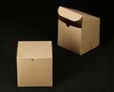 "2385 - 6"" x 6"" x 6"" Brown/Brown without Window, Lock & Tab Box With Lid. A22"