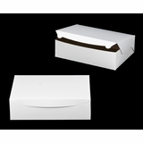 "239 - 14"" x 10"" x 4""  White/Brown without Window, Lock & Tab Box With Lid"