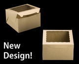 "2391 - 10"" x 10"" x 6"" Brown/Brown with Window, Lock & Tab Box With Lid"