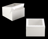 "2392 - 10"" x 10"" x 6"" White/White with Window, Lock & Tab Box With Lid. A34"