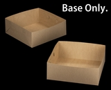 "2395 - 16"" x 16"" x 6"" Brown/Brown  Lock & Tab Box Base Only No Lid 50 COUNT"