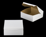 "240 - 12"" x 12"" x 5""  White/Brown without Window, Lock & Tab Box With Lid, 50 COUNT"