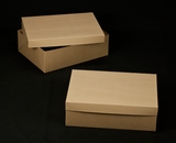 "2401x2379 - 19"" x 14"" x 6"" Brown/Brown Lock & Tab Half Sheet Cake Box Set without Window, 50 COUNT"