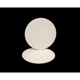 242 - 4  Inch Cake Round, White, Smooth Edges