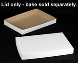 "243 - 26"" x 18"" x 3"" White/Brown Lock & Tab Box Lid Only, without Window, 50 COUNT. A27"