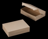 "2443 - 10"" x 7"" x 2 1/2"" Brown/Brown without Window, Lock & Tab Box With Lid. A17"