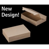 """2443 - 10"""" x 7"""" x 2 1/2"""" Brown/Brown without Window, Lock & Tab Box With Lid"""