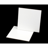 2452 - 9 inch White Cake Square, Coated Corrugated Cake Board