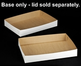 "264 - 26"" x 18"" x 4"" White/Brown Lock & Tab Box Base Only, 50 COUNT"