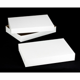 "264x243 - 26"" x 18"" x 4""  White/Brown Lock & Tab Box Set, without Window, 50 COUNT"