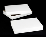 "264x243 - 26"" x 18"" x 4"" White/Brown Lock & Tab Full Sheet Cake Box Set, without Window, 50 COUNT"