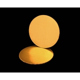 2725 - 6 Inch Cake Round, Gold Foil Single Wall Corrugated Cake Board