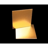 2727 - 6 Inch Cake Board, Gold Foil Single Wall Corrugated