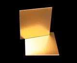 2727 - 6 Inch Cake Board, Gold Foil Single Wall Corrugated. C02