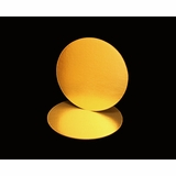 2729 - 8 Inch Cake Round, Gold Foil Single Wall Corrugated Cake Board
