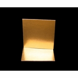 2731 - 8 Inch Cake Board, Gold Foil Single Wall Corrugated
