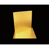 2739 - 10 Inch Cake Board, Gold Foil Single Wall Corrugated