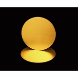 2741 - 12 Inch Cake Round, Gold Foil Single Wall Corrugated Cake Board