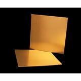 2743 - 12 Inch Cake Board, Gold Foil Single Wall Corrugated