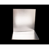 2744 - 12 Inch Cake Board, Silver Foil Single Wall Corrugated