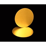 2749 - 16 Inch Cake Round, Gold Foil Single Wall Corrugated Cake Board