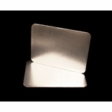2754 - Quarter Sheet Cake Board, Silver Foil Single Wall Corrugated