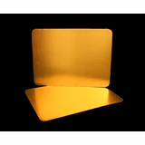 2755 - Half Sheet Cake Board, Gold Foil Single Wall Corrugated