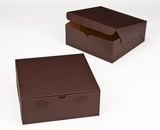 "2885 - 10"" x 10"" x 4"" Chocolate/Brown without Window, Lock & Tab Box With Lid. A26"