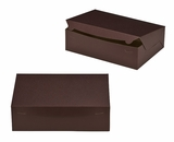 "2888 - 14"" x 10"" x 4"" Chocolate/Brown Lock & Tab Quarter Sheet Cake Box without Window"