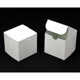 "2908 - 4"" x 4"" x 4"" White/White without Window, Lock & Tab Box With Lid"