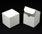 "2908 - 4"" x 4"" x 4"" White/White without Window, Lock & Tab Box With Lid. B10"