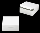 "2915 - 10"" x 10"" x 4"" White/White without Window, Lock & Tab Box With Lid. A27"