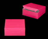 "2916 - 10"" x 10"" x 4"" Pink/White without Window, Lock & Tab Box With Lid. A27"
